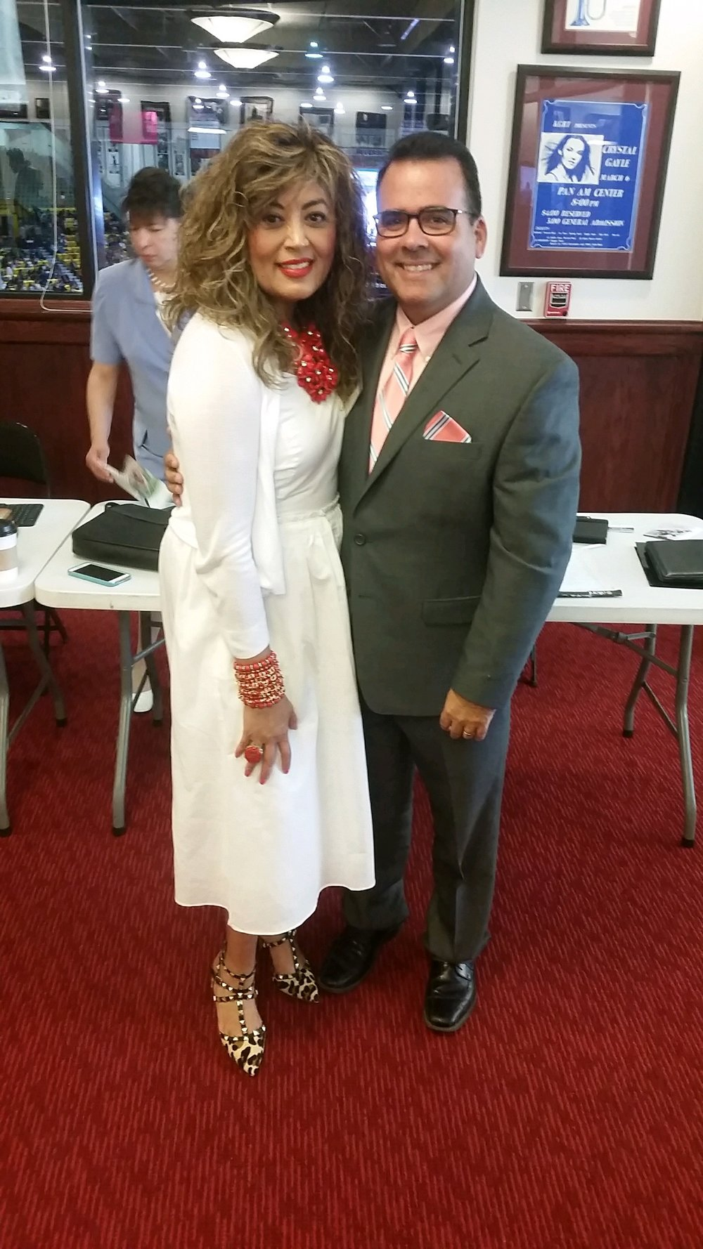 Peter with his beautiful wife dina