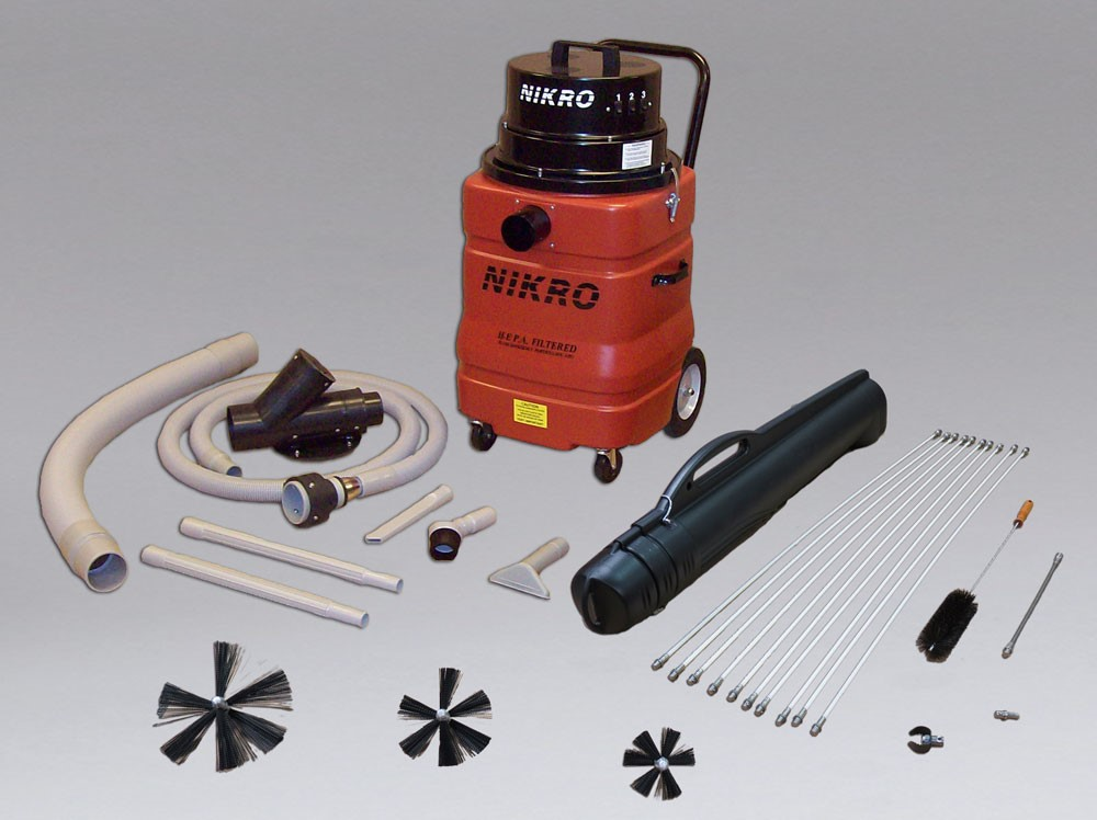 A Nikro professional dryer cleaning machine with all accessories