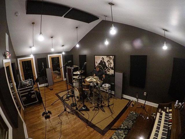 Drum day yesterday at @trackhappystudios