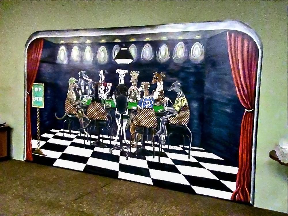 Poker-Room Mural