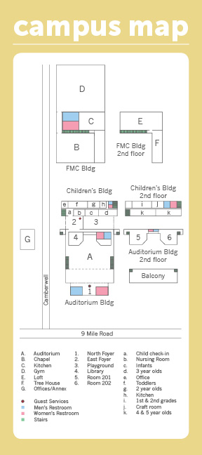 Nursery Back Campus Map