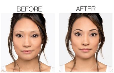 Before and after Moodstruck Precision Brow Gel & Liner. Show your brows who's boss!