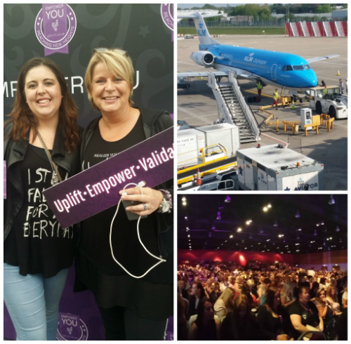 Me and Karin, our flight home and 1500 awesome Younique ladies !