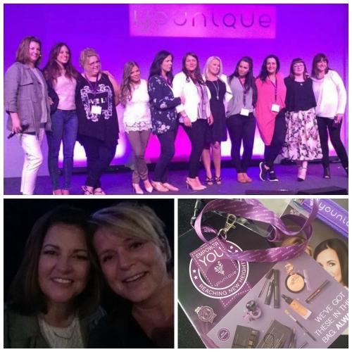 Girl Power on stage, me and Shari Brown and some Younique goodies ♥