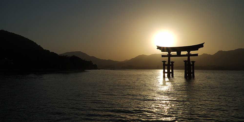 Shown: Sunset over Grand Torii Gate