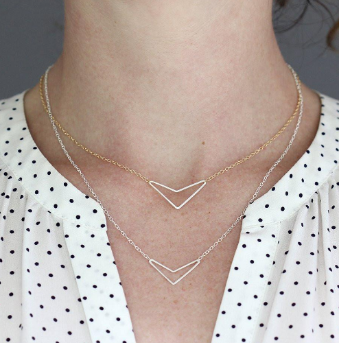 Rebecca Haas Jewelry - Little Arrow Necklace - It's simple and pretty with a little bit of an edge. It is a great combination of both bohemian and minimalist, and is a great layering piece.