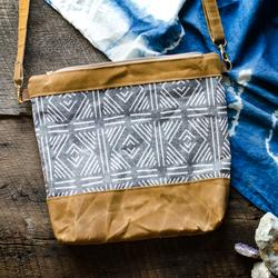 Burst Into Bloom - Mudcloth Crossbody Bag - I love this because they wax their own canvas with a beeswax blend.