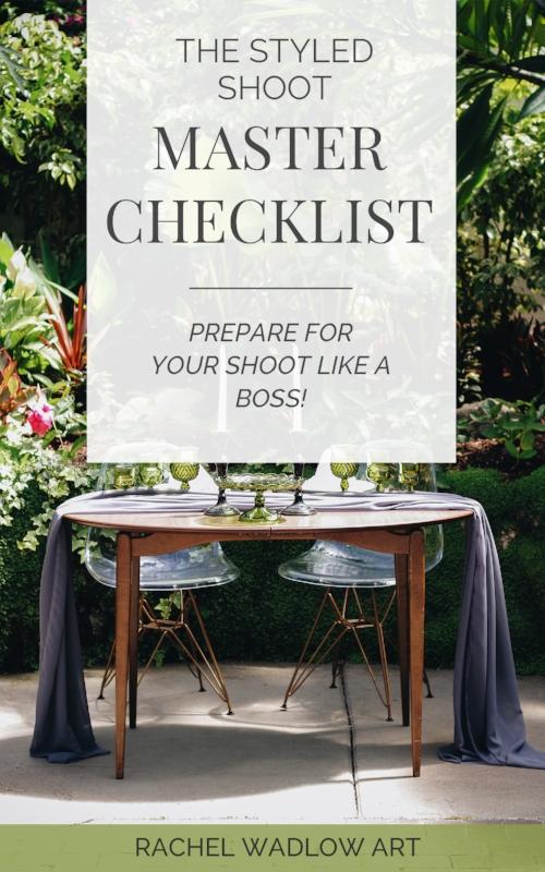 styled shoot checklist