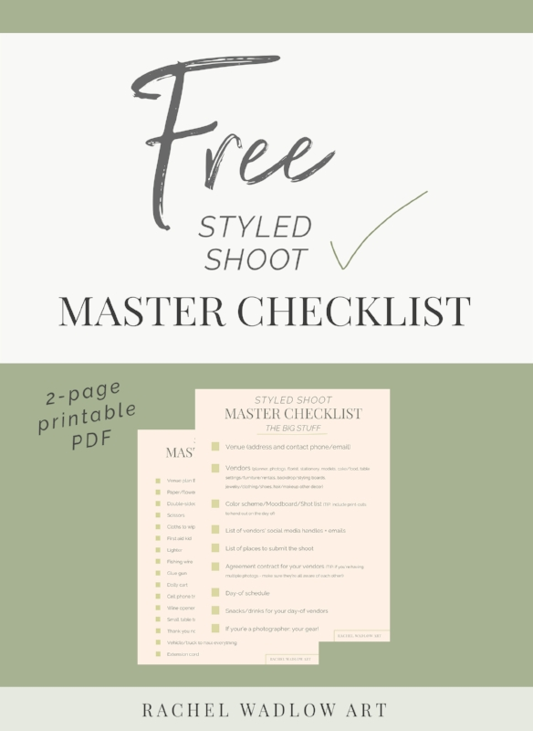 free styled shoot checklist