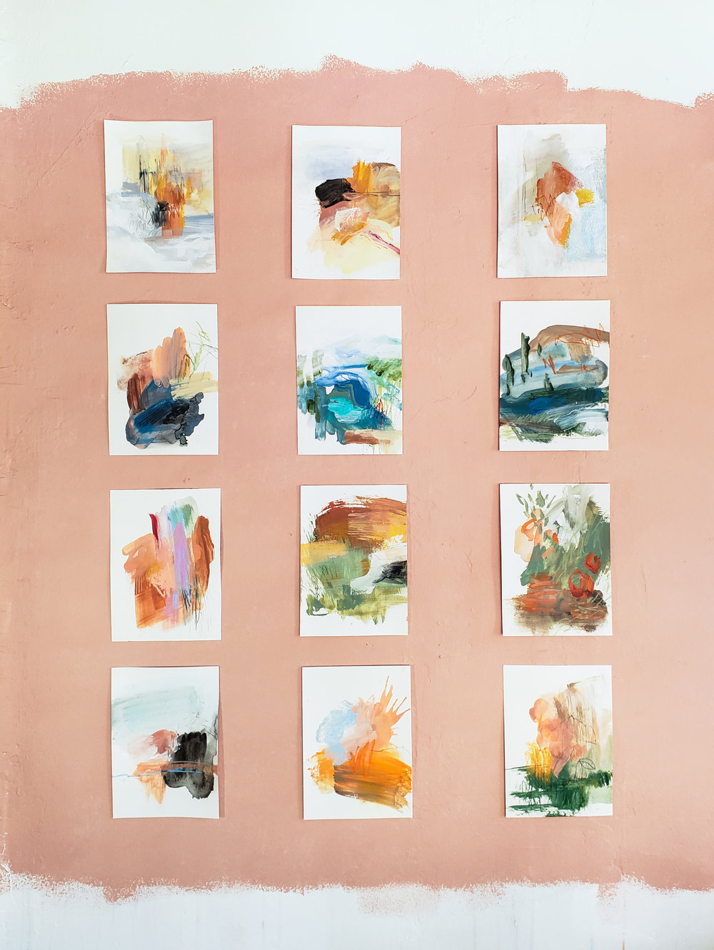 abstract paintings gallery wall