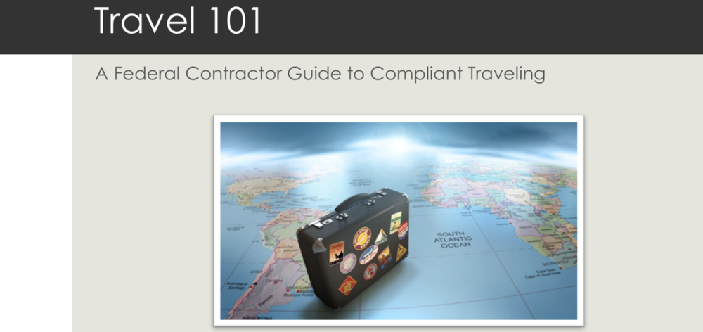 Mock-up of a training module regarding being compliant while traveling