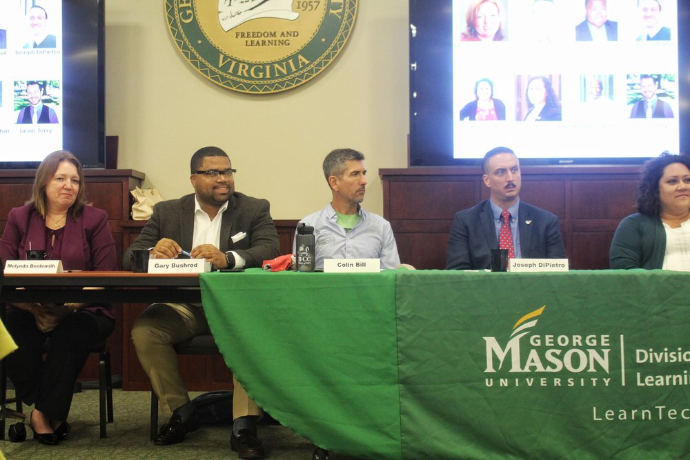 Industry professionals from various firms spoke to current and prospective students at George Mason University.