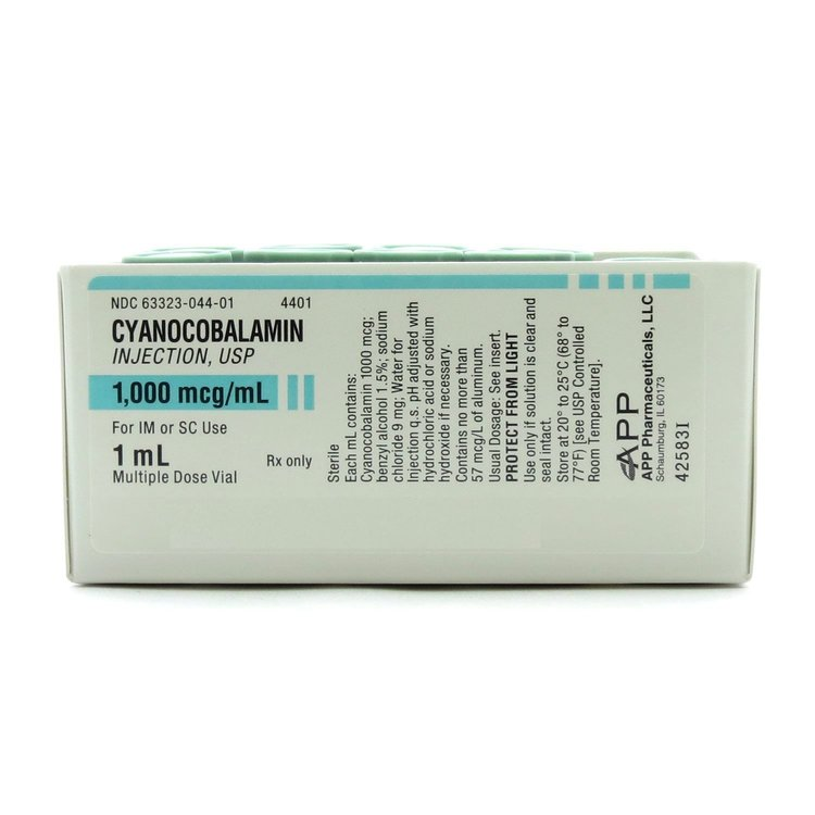 Cyanocobalamin ( Vit B-12 ) 1,000mcg/ 1 ml vial