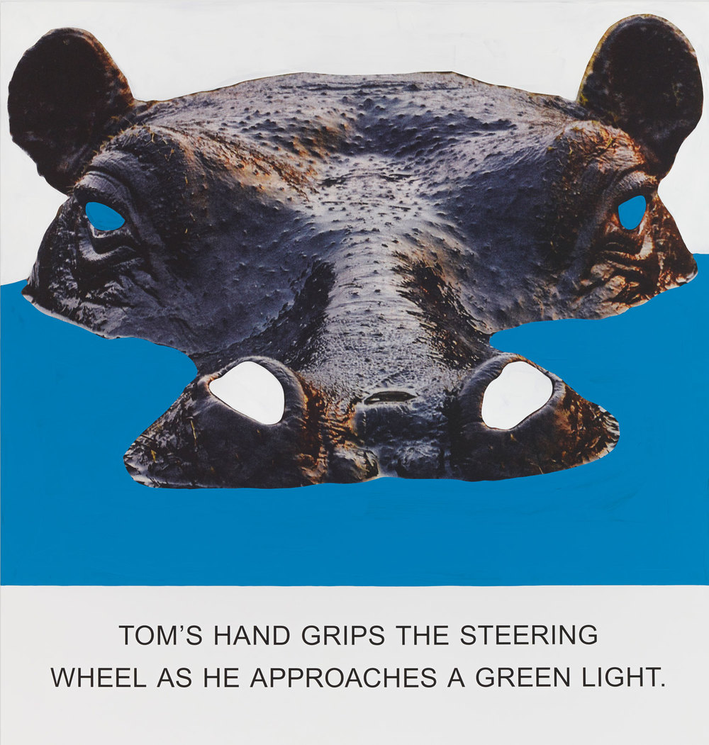 Tom's Hand Grips The Steering, Wheel…,  2015  © John Baldessari