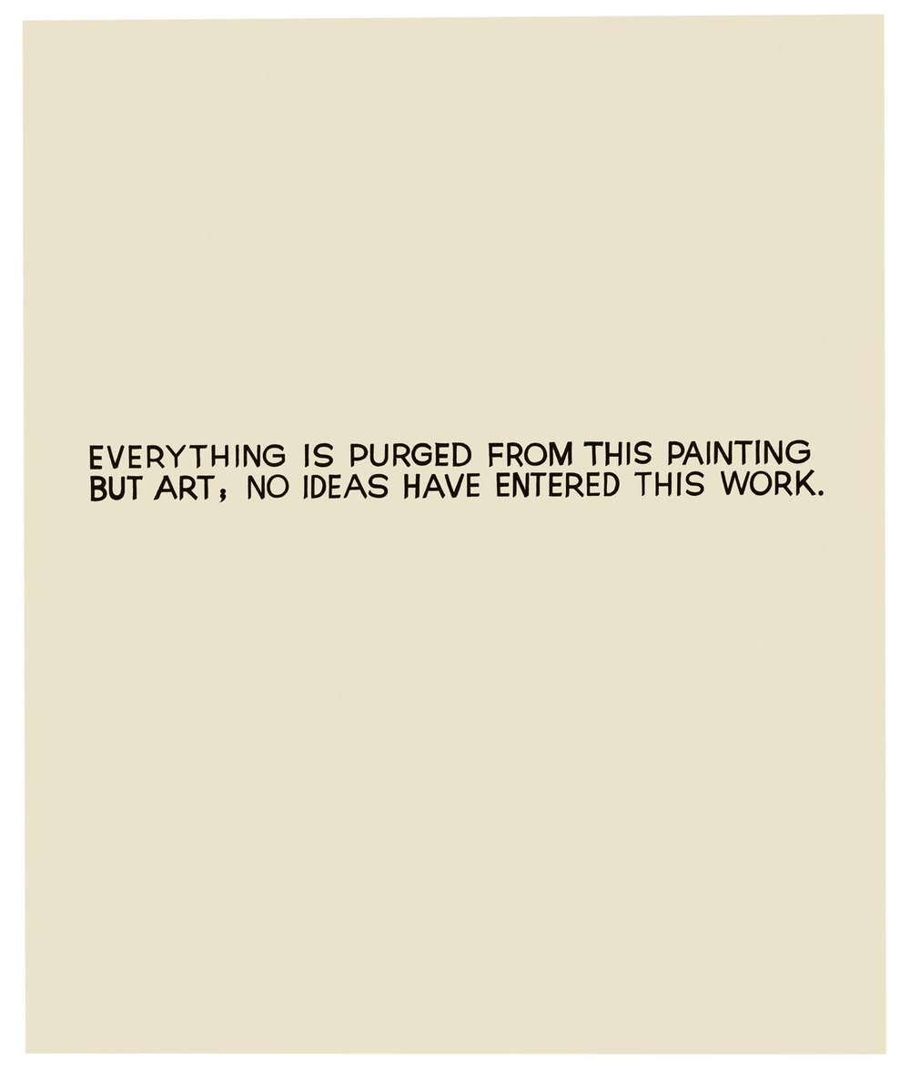 Everything is Purged...,  1966-68  © John Baldessari