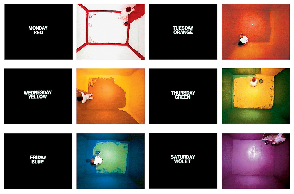 Six Colorful Inside Jobs , 1977 32:53 min, color, silent  © John Baldessari.  Distributed by  EAI .