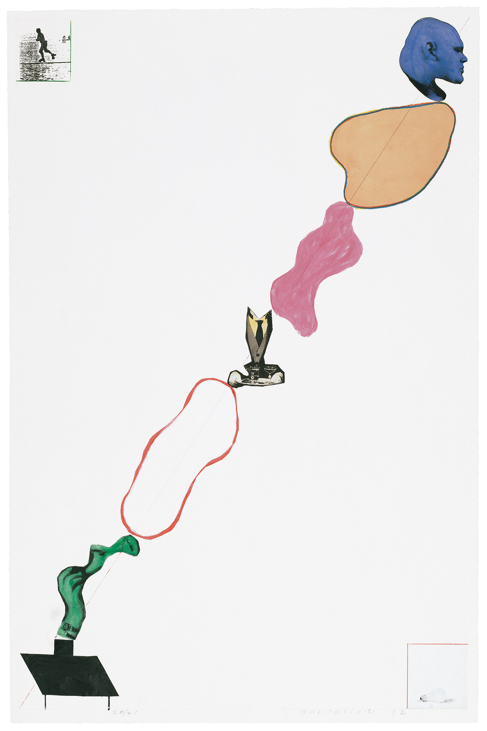 Domestic Smoke: Desire, Power, Colored Intervals, and Genie (with Two Boxed Asides) , 1992 Publisher: Olive Press Cornell University, Edition of 48.  © John Baldessari