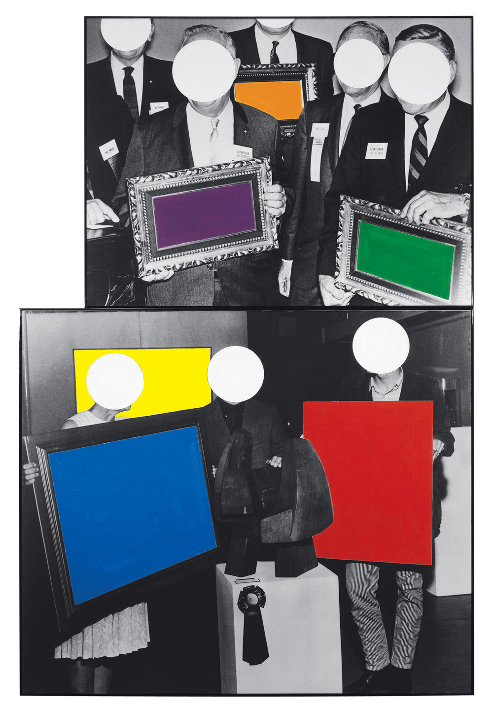 Frames and Ribbon,  1988  © John Baldessari