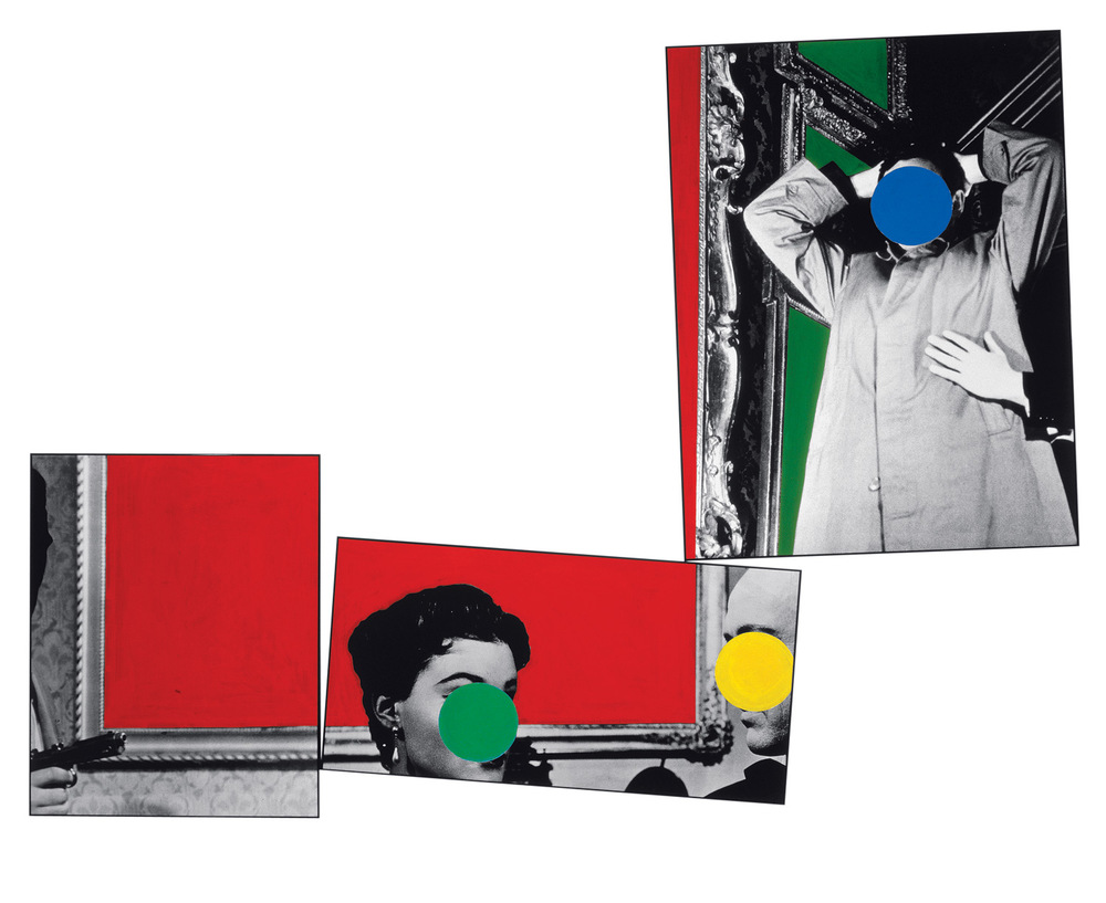 Three Red Paintings,  1988  © John Baldessari