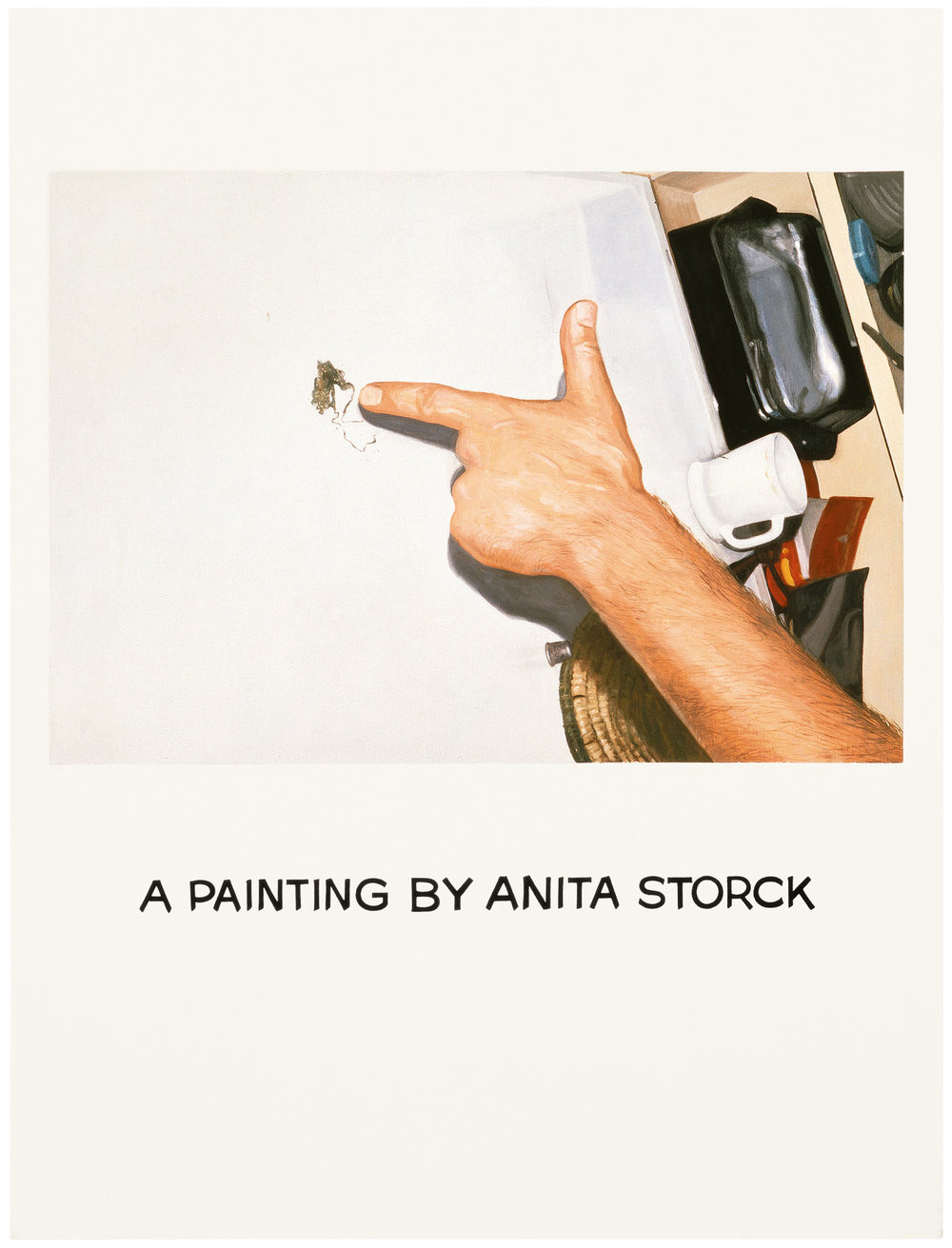 Commissioned Painting: A Painting by Anita Storck,  1969  © John Baldessari