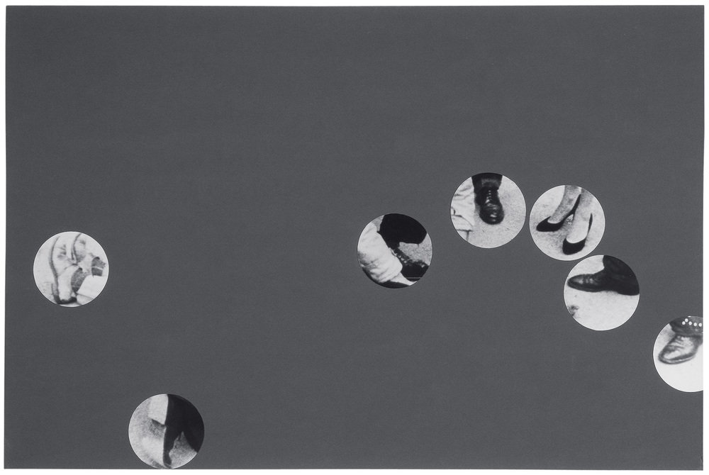 Violent Space Series: Nine Feet (Of Victim And Crowd) Arranged By Position In Scene,  1976  © John Baldessari