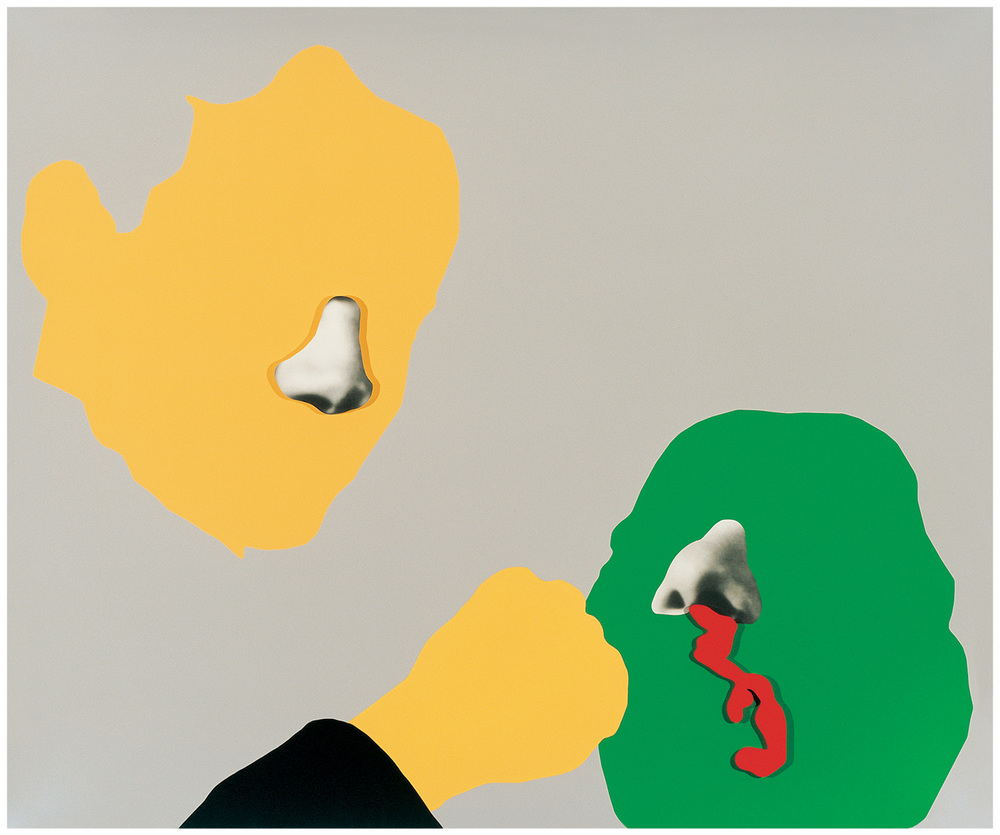 Noses & Ears, Etc.: Blood, Fist, And Head (With Nose And Ear),  2006  © John Baldessari
