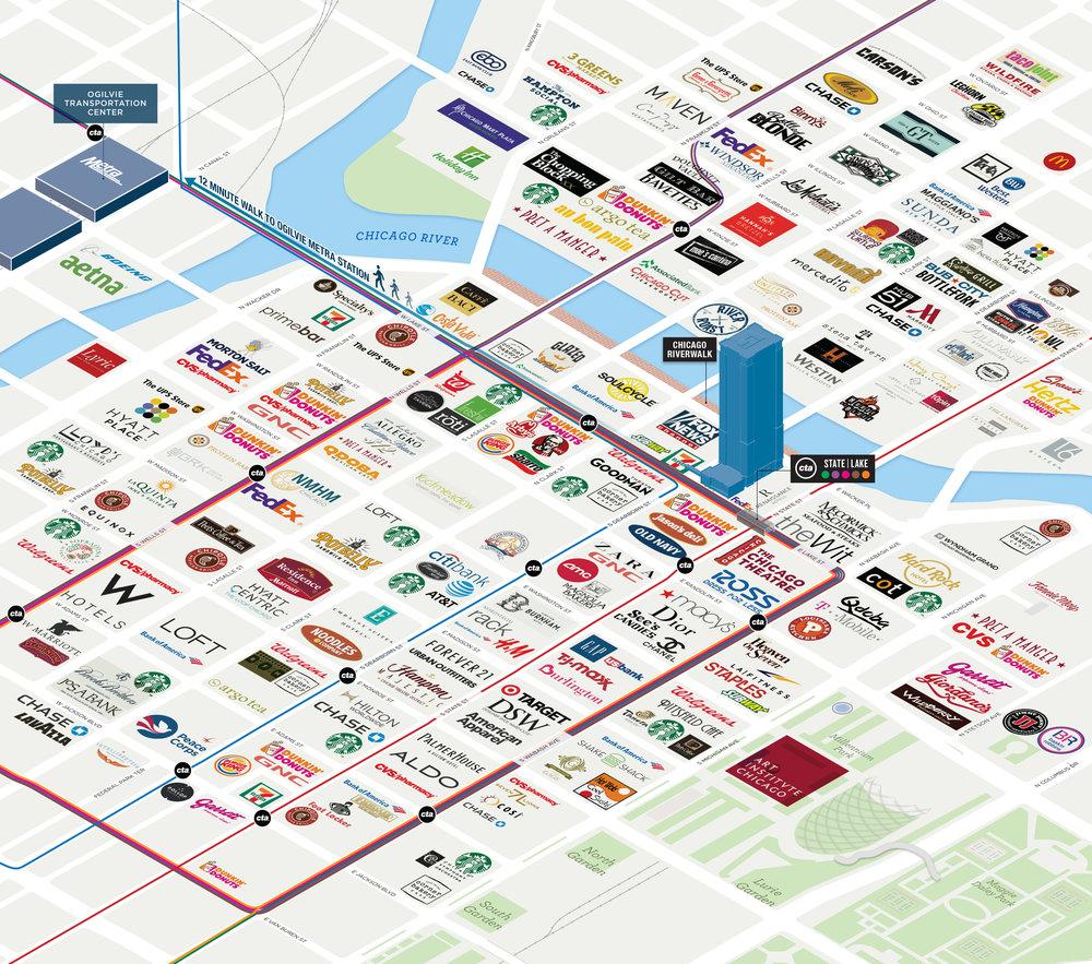 Chicago Illinois Oblique 3D Logo Amenities Map.jpg