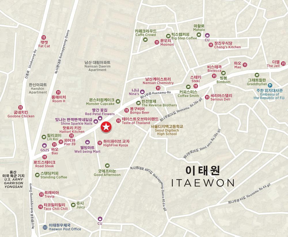Itaewon Seoul South Korea Amenities Map.jpg