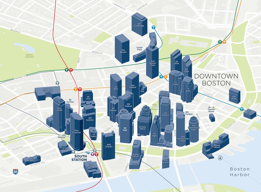 Boston Massachusetts Downtown Financial District 3D Buildings Map .jpg