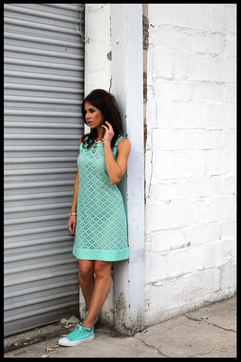Suits and Sneaks Turquoise Dress Eliza J