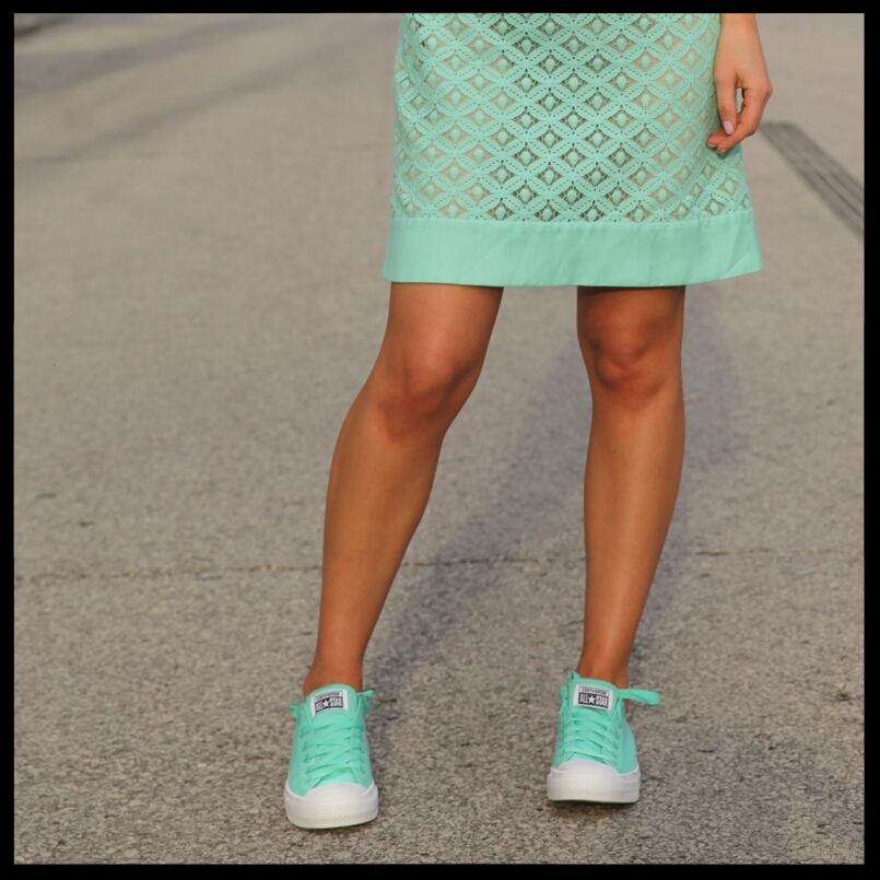 Suits & Sneaks Turquoise Chuck Taylors