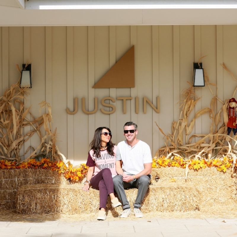 Having a moment at Justin Winery :p