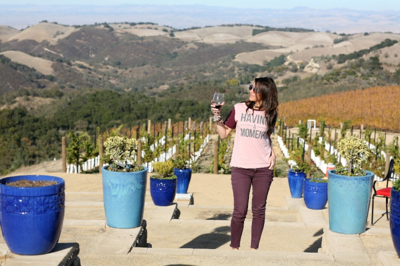 Having a moment in Daou's vineyards.