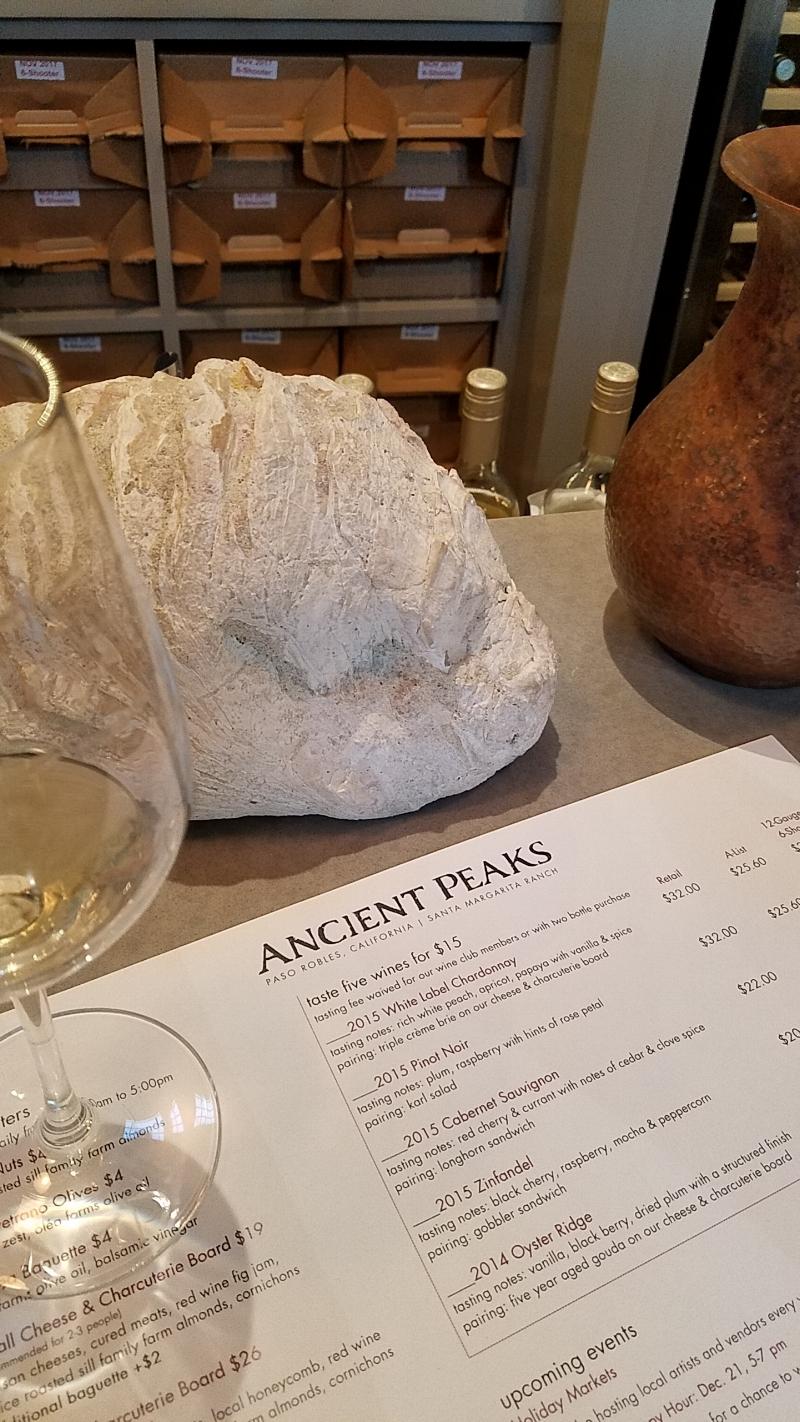 Ancient Peaks Wine Tasting