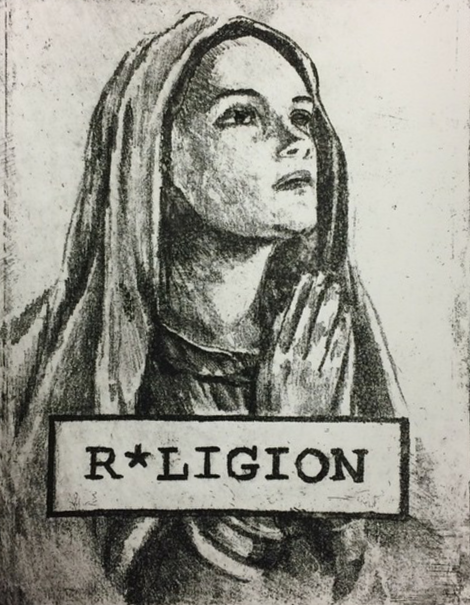 """R*ligion"" -2014 Intaglio print on Stonehenge"