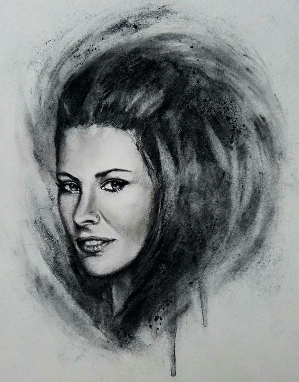 """Kate Austen"" 2016- Charcoal on Bristol. 11x14 in."