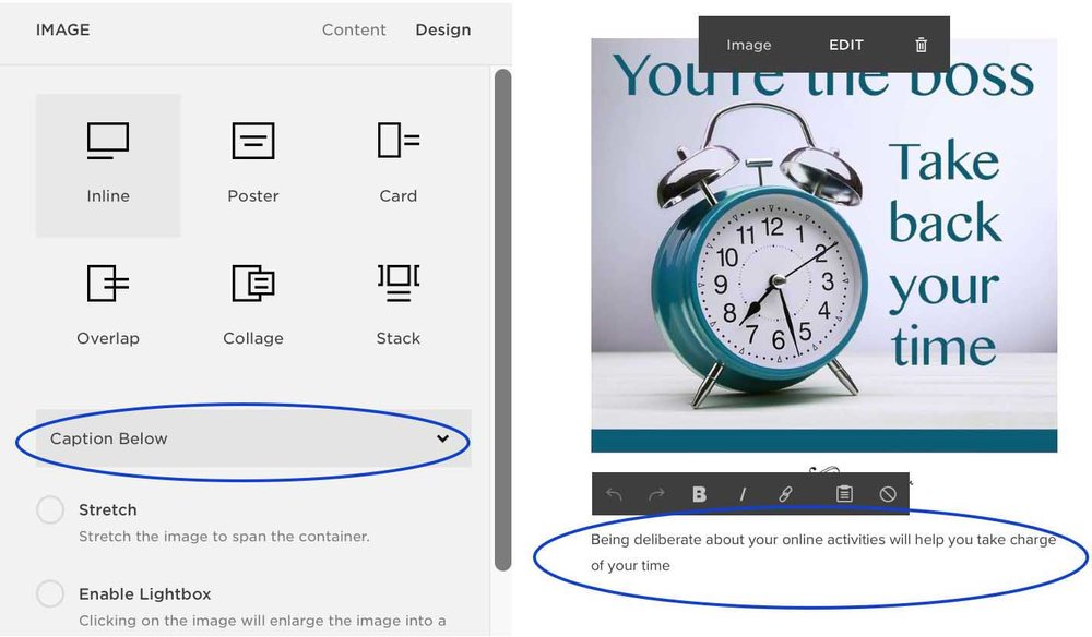 Write a caption and Alt Text for an image in Squarespace for better SEO
