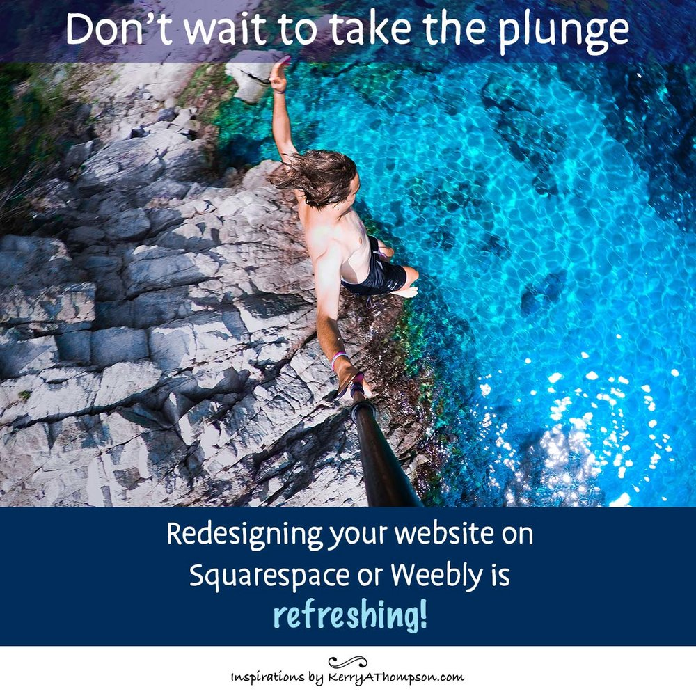 Kerry A. Thompson Blog - Redesigning a website on Squarespace or Weebly is easy and refreshing!