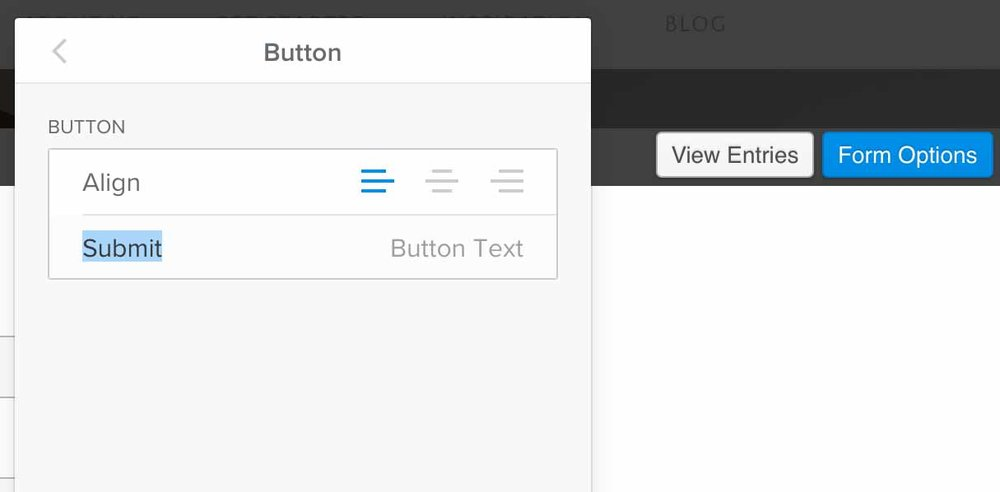 In Weebly, change the form's Button text.