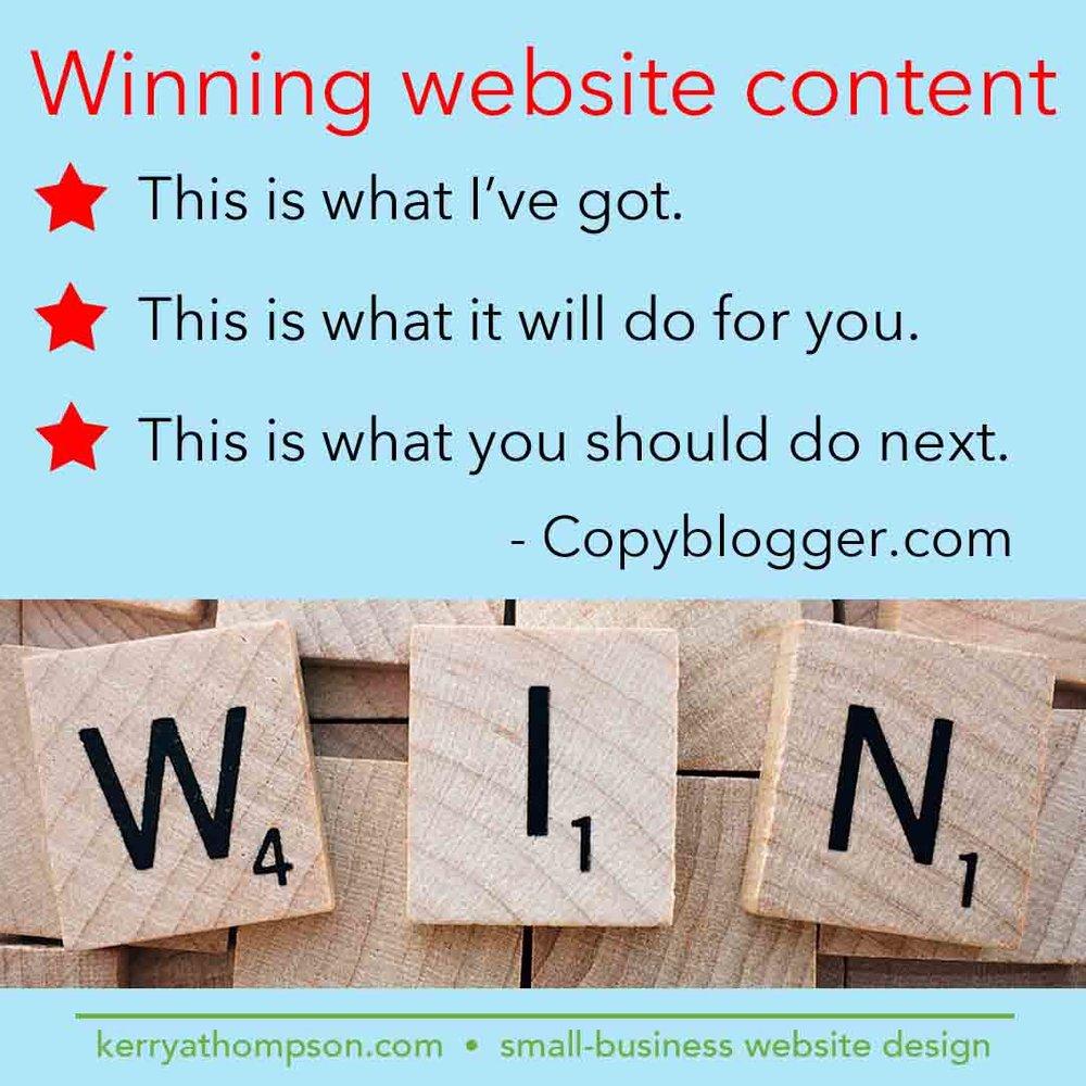 KerryAThompson blog: Winning website content
