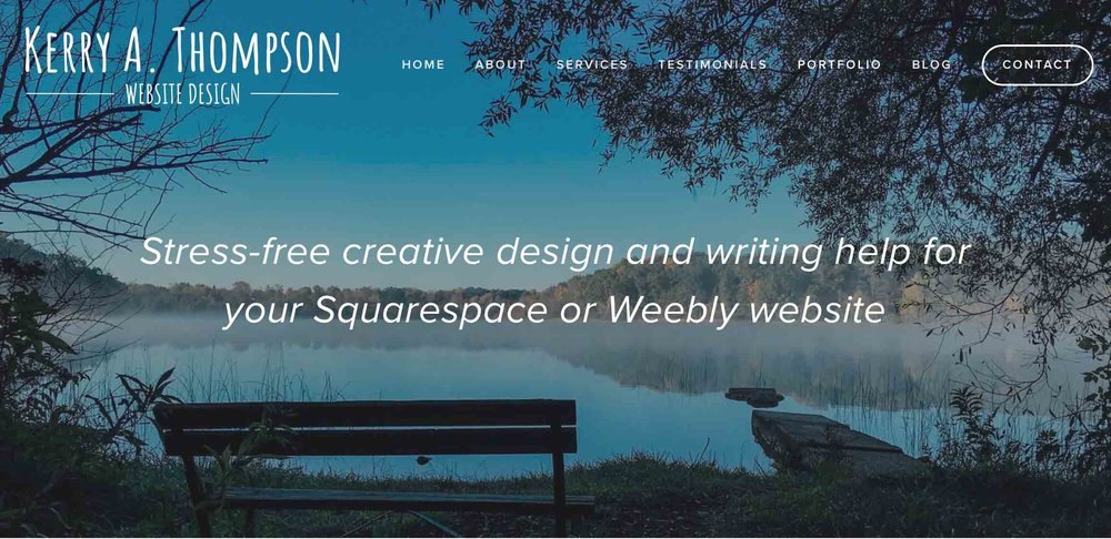 Kerry A. Thompson Blog: Example of Home page banner