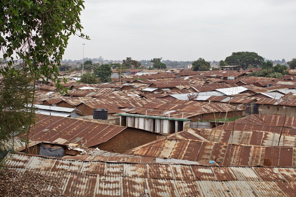 Rooftops in Kibera