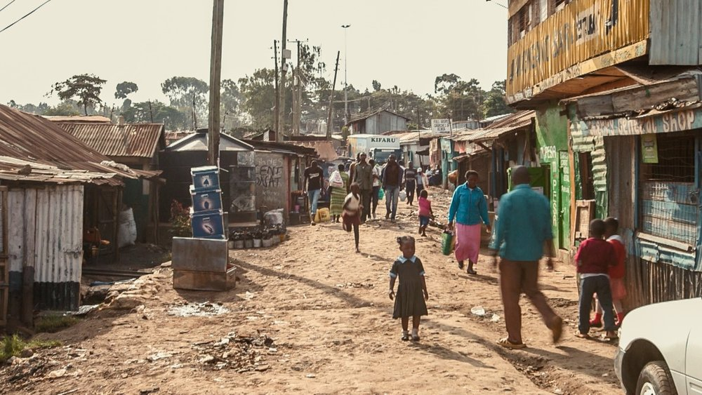 A typical street in Kibera