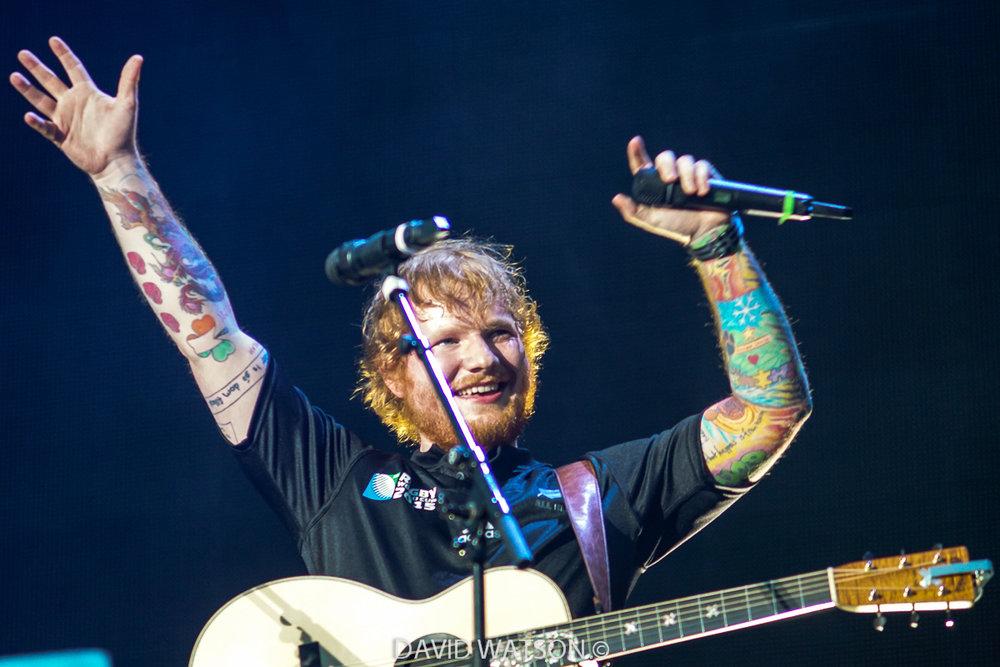 Ed Sheeran performing at Mt Smart Stadium, Auckland - December 12th, 2015 - Photos by David Watson