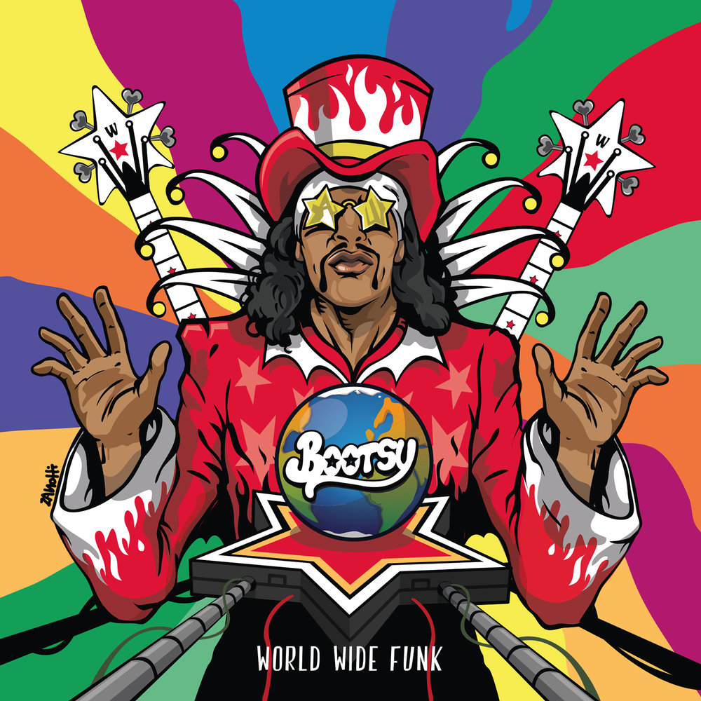 1. World Wide Funk (feat. Doug E. Fresh, Buckethead & Alissia Benveniste  2 .Bass-Rigged-System (feat. Victor Wooten, Stanley Clarke, Manou Gallo, Alissia Benveniste & World-Wide-Funkdrive)  3. Pusherman (feat. Dru Down, BlvckSeeds , Mr. Talkbox)  4. Thera-P (feat. Tyshawn Colquitt & Alissia Benveniste)  5. Hot Saucer (feat. Musiq Soulchild & Big Daddy Kane)  6. Heaven Yes  7. Ladies Nite (feat. MC Eiht & BlvckSeeds)  8. Candy Coated Lover (feat. X-Zact, Kali Uchis & World-Wide-Funkdrive)  9. Snow Bunny (feat. Tyshawn Colquitt, Snowbunny & World-Wide-Funkdrive)  10. Hi-On-Heels (feat. October London)  11. A Salute To Bernie (feat. Dr. G. Bernie Worrell)  12. Boomerang (feat. Justin Johnson)  13. Worth My While (feat. Kali Uchis)  14. Come Back Bootsy (feat. Eric Gales, Dennis Chambers & World-Wide-Funkdrive)  15. Illusions (feat. Chuck D, Buckethead & BlvckSeeds)