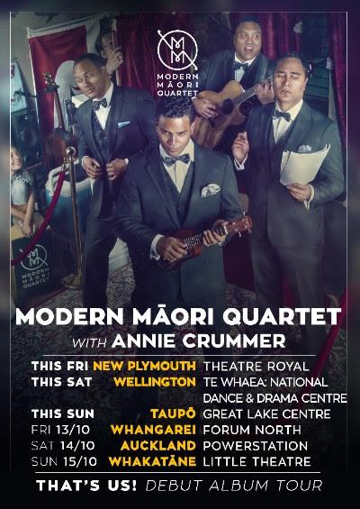 Tickets via   http://modernmaoriquartet.nz/