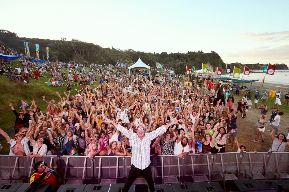 Barry Ashworth playing to a rapturous Splore crowd - Photo by Bas Van Est