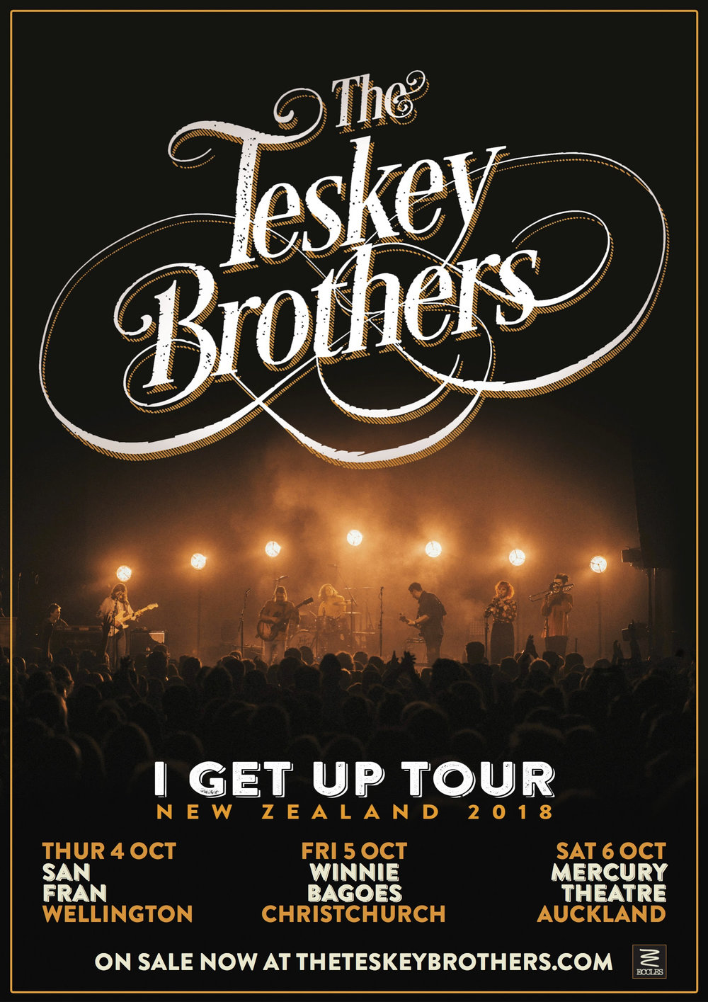 Tickets go on sale Thursday August 23 at 12.00pm from   www.theteskeybrothers.com