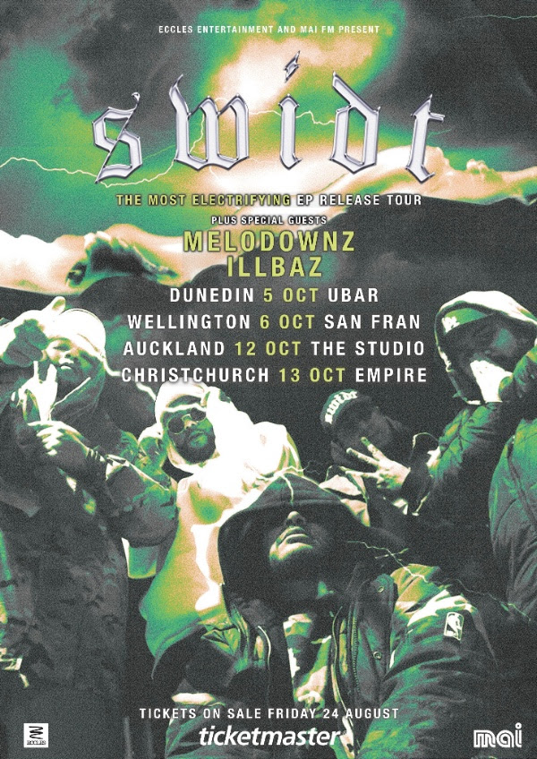 Tickets for SWIDT's NZ-tour are on sale on Friday, August 24 at 12.00pm from   www.ticketmaster.co.nz