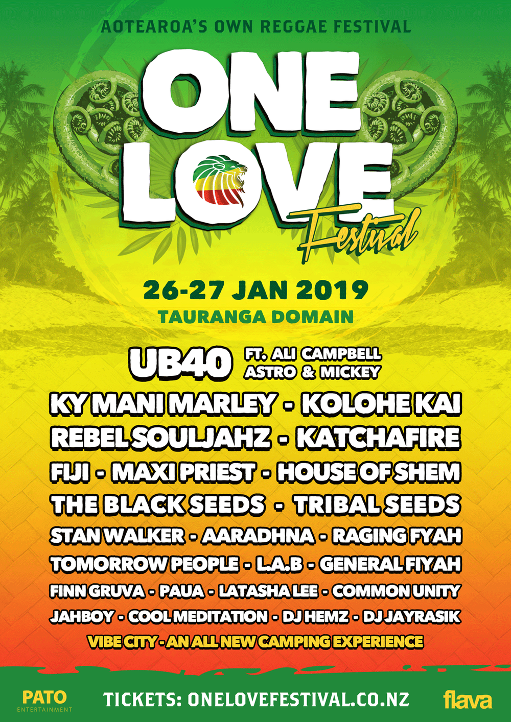Tickets from  www.onelovefestival.co.nz